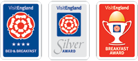 Visit England - 4 star B&B - Silver Award - Breakfast Award